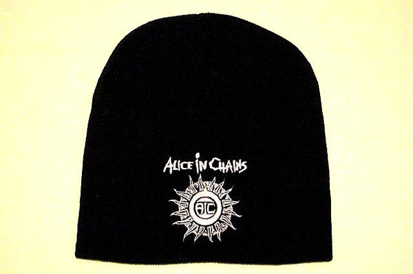 ALICE IN CHAINS -  Sunburst -Embroidered -  Logo Beanie - One Size Fits All
