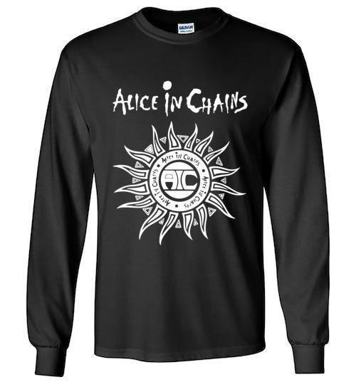 ALICE IN CHAINS - Sun Logo -  Unisex  Long Sleeve Shirt