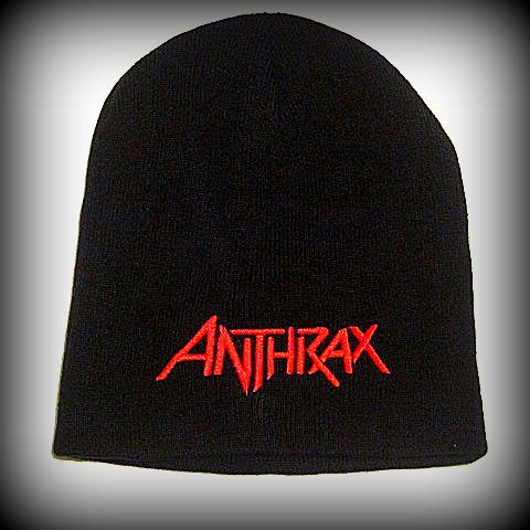ANTHRAX  - Embroidered -  Logo Beanie