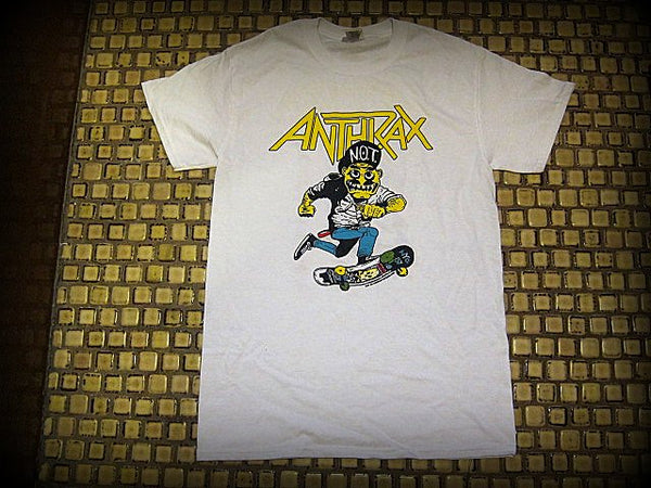 Anthrax - Not Man Riding Skateboard / Mosh It Up - Two Sided Printed - T-Shirt