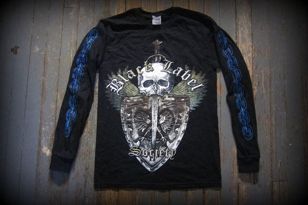 BLACK LABEL SOCIETY - Doom Crew Inc- Unisex  Long Sleeve Shirt. Printed Two Sides-Size S