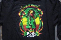 BOB MARLEY - Two Sided Printed -  Zipper Hoodie