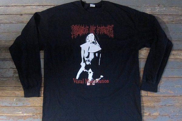 CRADLE OF FILTH - Vestal Masturbation -Two Sided Printed - Long Sleeve Shirt