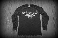 DANZIG - Skull Logo - Two Sided Printed Long Sleeve T-Shirt
