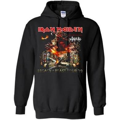 IRON MAIDEN - Legacy Of The Beast Tour Hoodie - Two Sided Print