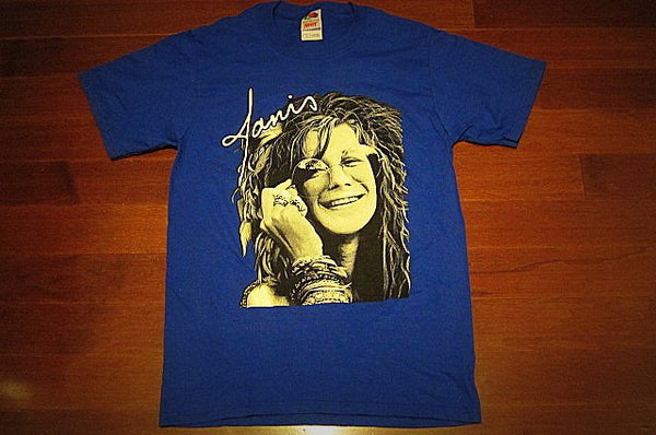 JANIS JOPLIN- Up Close-Unisex  T-shirt - Color >> Navy Blue