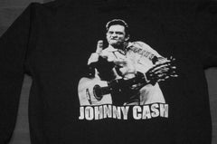 JOHNNY CASH / Memorial  Hooded Sweatshirt / Two Sided Print