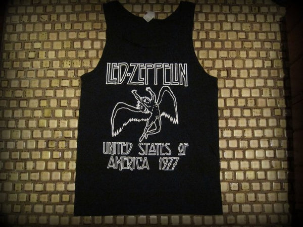 LED ZEPPELIN - Tour 1977 / Tank Top- Printed Front & Back