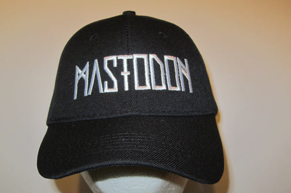 MASTODON - Embroidered - Baseball Cap - Adjustable Velcro Back - One Size Fits All UNISEX