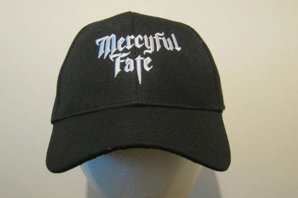 MERCYFUL FATE - Embroidered - Baseball Cap - Adjustable Velcro Back - One Size Fits All UNISEX