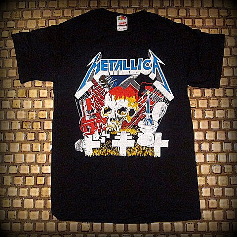 METALLICA -  Vintage Collage -  Unisex T-SHIRT- Printed Front And Back