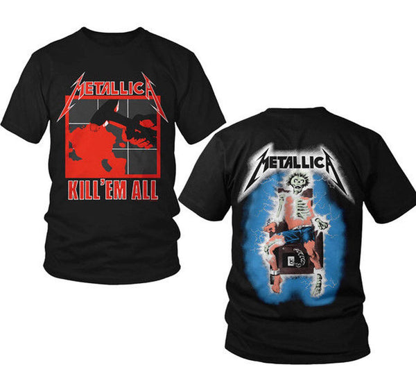 METALLICA - KILL 'EM  ALL - T-Shirt - Printed Front And Back