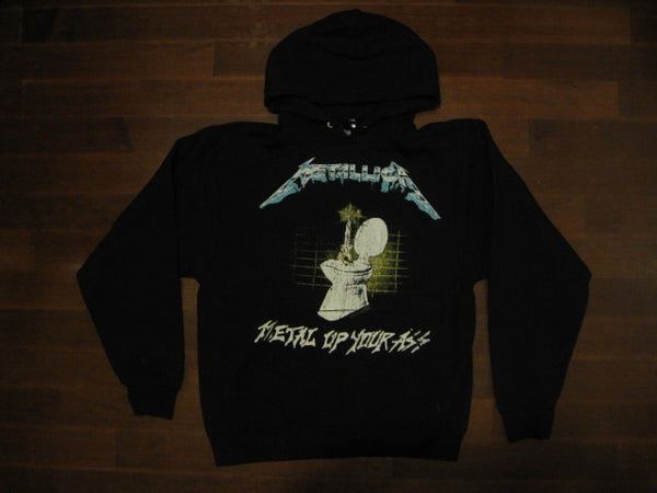 METALLICA -Metal Up Your Ass - Distressed Two Sided Printed - Hoodie