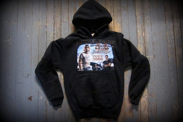 NICKELBACK- 2006 All The Right Reasons Tour -TWO SIDED PRINTED-HOODIE