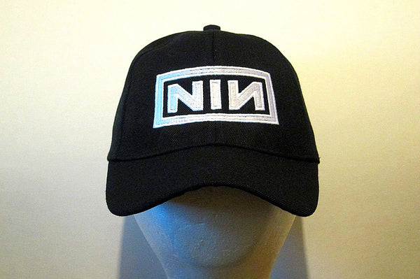 NINE INCH NAILS - EMBROIDERED BASEBALL CAP - Adjustable Velcro Back