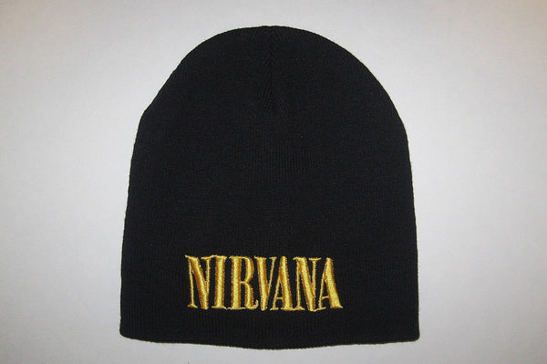 NIRVANA -  Embroidered -  Logo -  Beanie