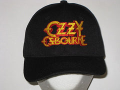 OZZY OSBOURNE- EMBROIDERED BASEBALL CAP - Adjustable Velcro Back - One Size Fits All
