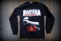 PANTERA - Vulgar Display Of Power - Two Sided Printed- Unisex Long Sleeve Shirt.