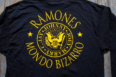 RAMONES / GROUP PHOTO/LOGO / Long Sleeve - T-Shirt- Two Sided Print-Size XL