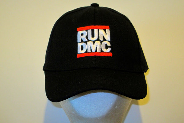 RUN DMC - EMBROIDERED BASEBALL CAP - Adjustable Velcro Back- One Size Fits All