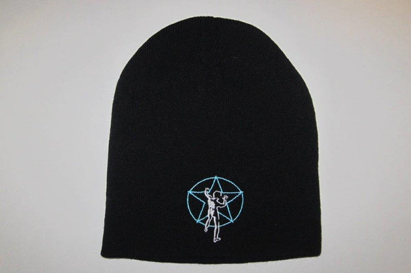 RUSH - Embroidered- Blue Logo- Black Beanie