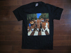 BEATLES-ABBEY ROAD-VINTAGE TWO SIDED PRINT-T-SHIRT