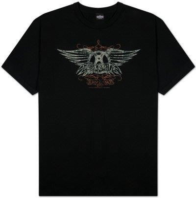 AEROSMITH /  Vintage Distressed Wings Logo- T-Shirt