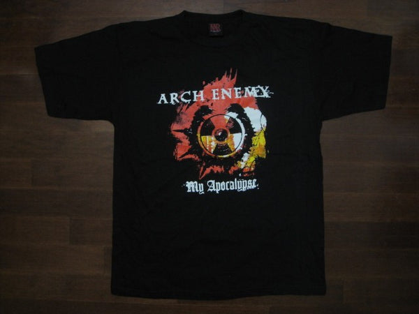 ARCH ENEMY My Apocalypse Biohazard Symbol Blood Splattered Logo T-Shirt