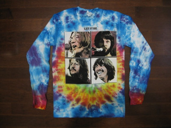 BEATLES- Let It Be / Tie-Dye Long Sleeve Shirt