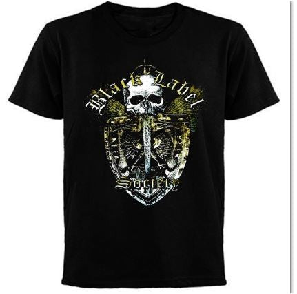 BLACK LABEL SOCIETY - Gold Shield Logo T-shirt