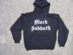 BLACK SABBATH - Stacked Logo-Original Group Photo With Ozzy-Two Sided Print - Hoodie