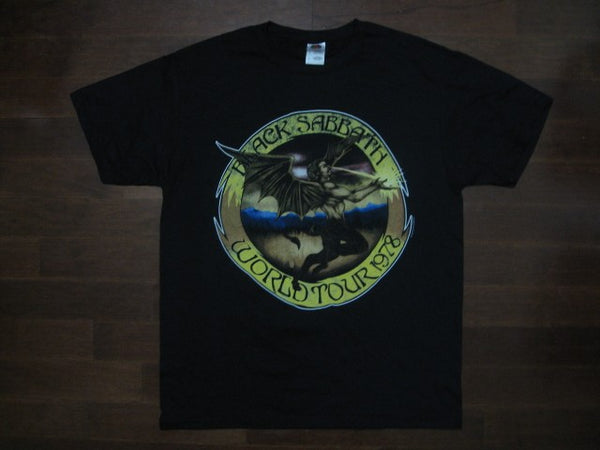 Black Sabbath- Vintage Distressed World Tour 1978 Flying Human Demon- T-shirt