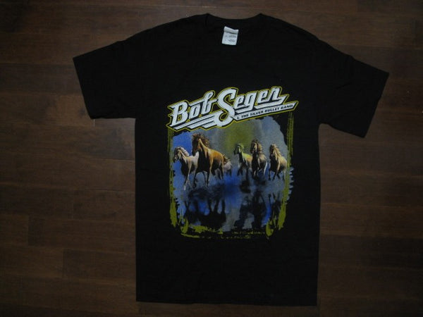 BOB SEGER AND THE SILVER BULLET BAND- AGAINST THE WIND - T-Shirt: