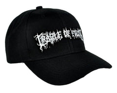 CRADLE OF FILTH - EMBROIDERED BASEBALL CAP - Adjustable Velcro Back -Unisex