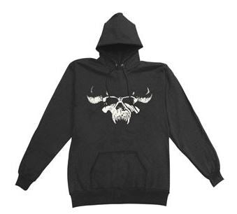 DANZIG -  Skull  / Logo Hooded Sweatshirt - PRINTED FRONT & BACK