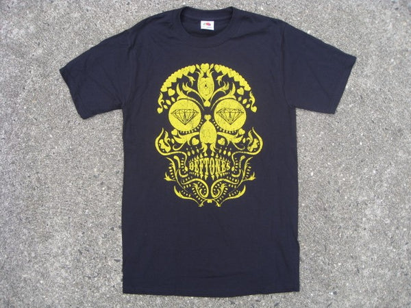 Deftones - Distressed Gold Day Of The Dead Skull - T-shirt
