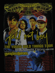 FALL OUT BOY-The Young Wild Things 2007 Tour Shirt.Two Sided Print