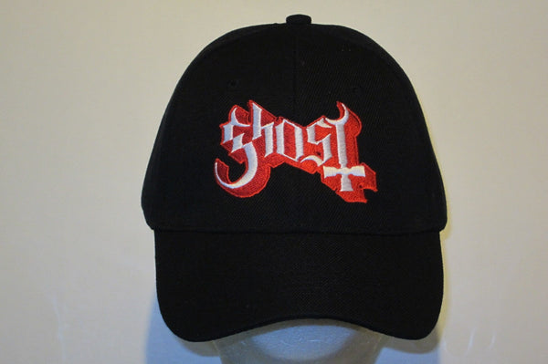 GHOST - Logo - Embroidered Baseball Cap. One Size Fits All. Velcro Back.Unisex