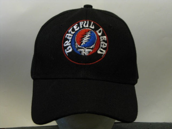 Grateful Dead - Steal Your Face - Embroidered Baseball Cap One Size Fits All Adjustable Velcro Strap