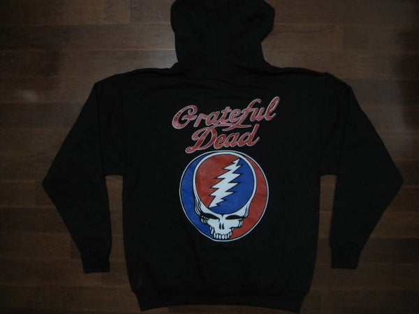 Grateful Dead- Steal Your Face- With Logo- Hoodie-Two Sided Print
