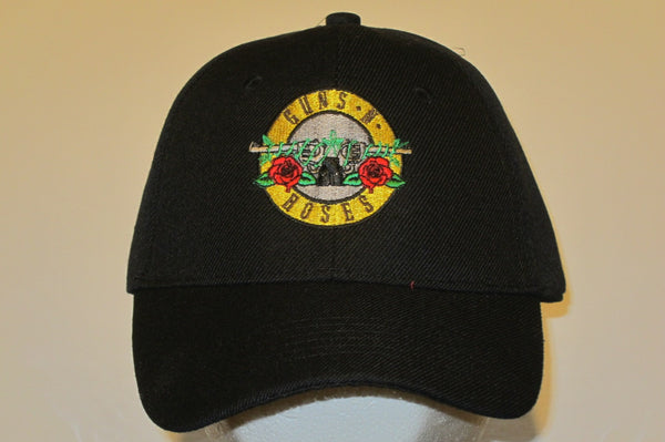 GUNS N' ROSES - GUNS N' ROSES - Embroidered Baseball Cap. One Size Fits All. Velcro Back..Unisex