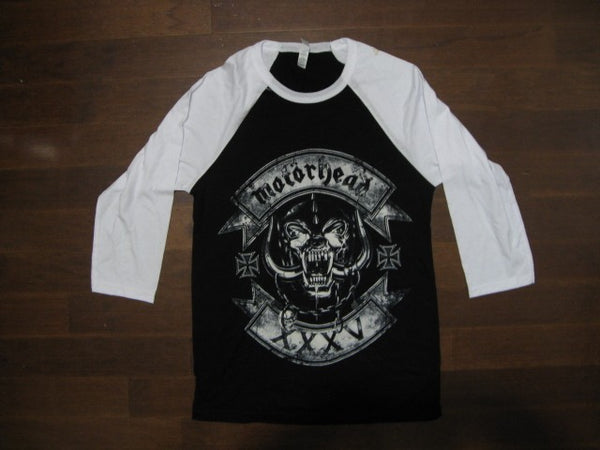 Motorhead - SKULL LOGO WITH ROCKERS - Baseball Jersey - Two Sided Print - Long Sleeve Shirt