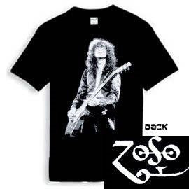 Led Zeppelin - Jimmy Page - Zoso Logo- T-shirt - Two Sided Print