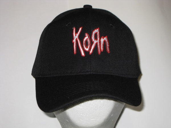 KORN - EMBROIDERED BASEBALL CAP - Adjustable Velcro Back -Unisex