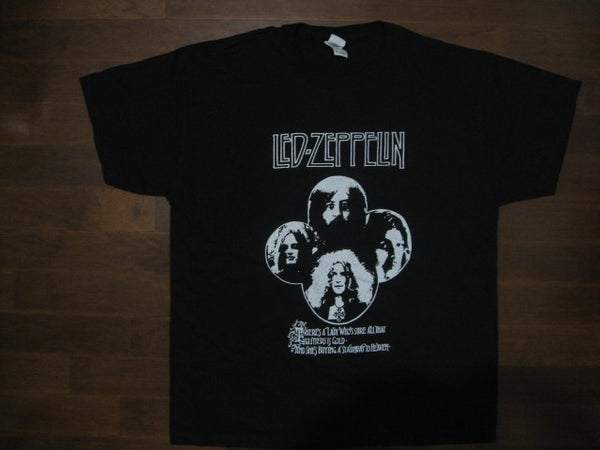 Led Zeppelin- Group Picture -Very Rare Vintage  -T-Shirt