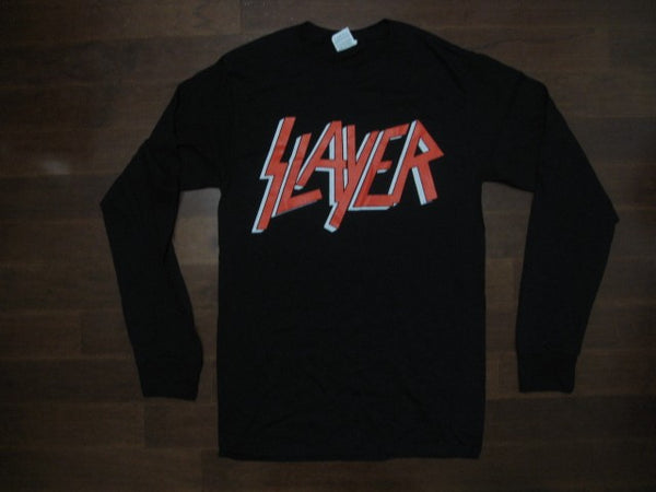 SLAYER / LOGO / Two Sided Printed - Long Sleeve T-Shirt