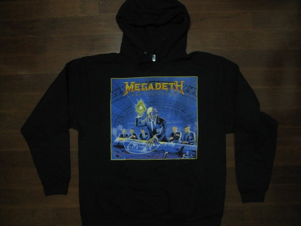 MEGADETH- Hooded- Rust In Peace Radioactive Symbol