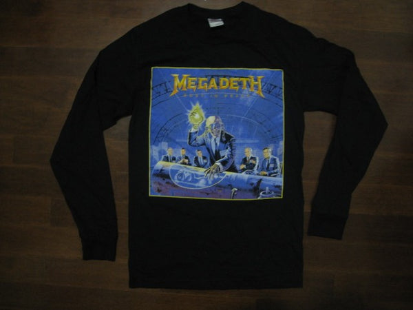 MEGADETH - RUST IN PEACE /  Long Sleeve Tshirt - Two Sided Print