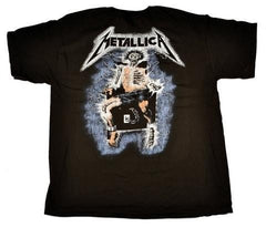 METALLICA- Metal Up Your Ass- Distressed Print- Printed Front And Back-Unisex-T-shirt