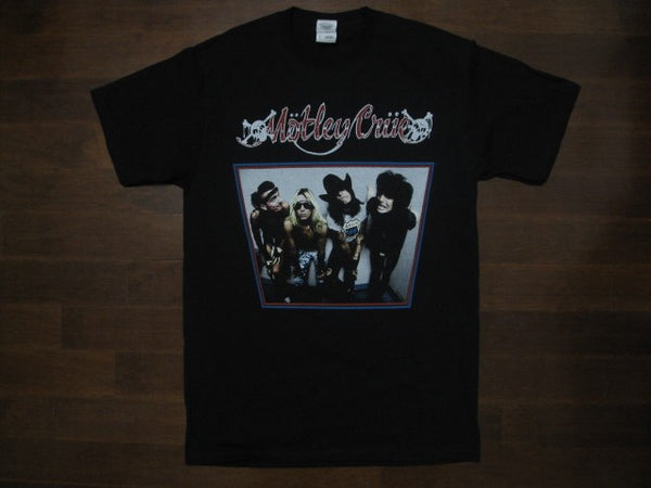 MOTLEY CRUE - Original Group -Two Sided Print- BAD BOYS OF ROCK N ROLL -T-shirt